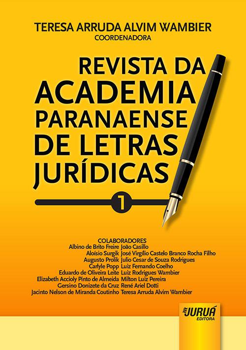 Revista da Academia Paranaense de Letras Jurídicas - Nº 1