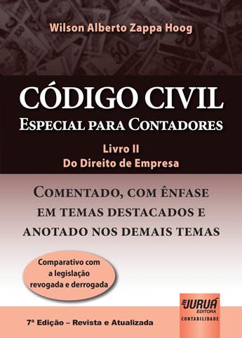 Código Civil - Especial para Contadores - Livro II - Do Direito de Empresa