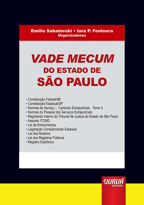 Vade Mecum do Estado de São Paulo - Formato: 21x30cm